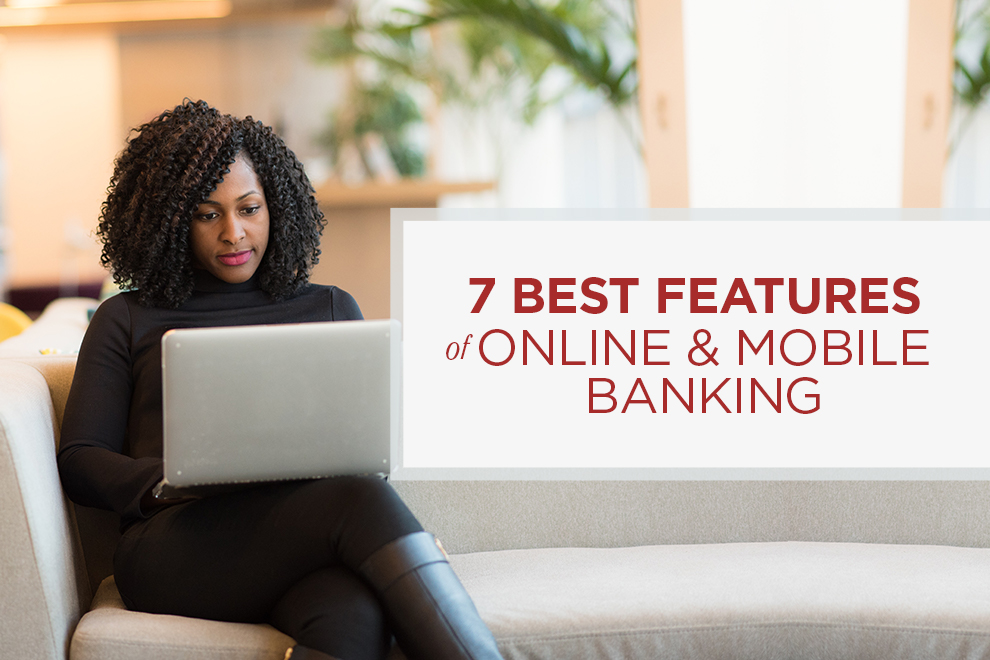 7 Best Features of Online Banking: woman on laptop
