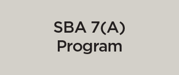 SBA Loan 7A Program