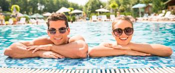 Couple at resort