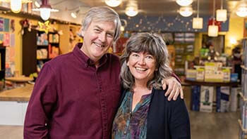 Tom and Marlene England owners of Dancing Bear and Curious Iguana