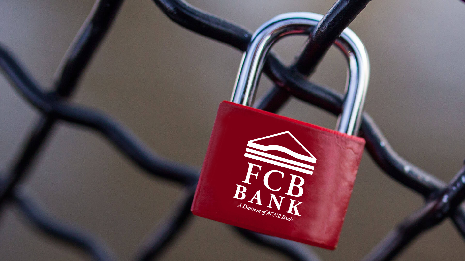 FCB Bank Lock on Fence