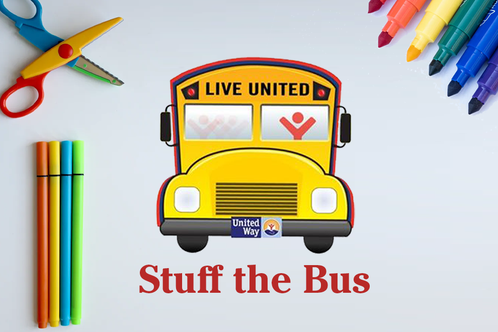 Stuff the Bus Donations accepted at FCB Bank