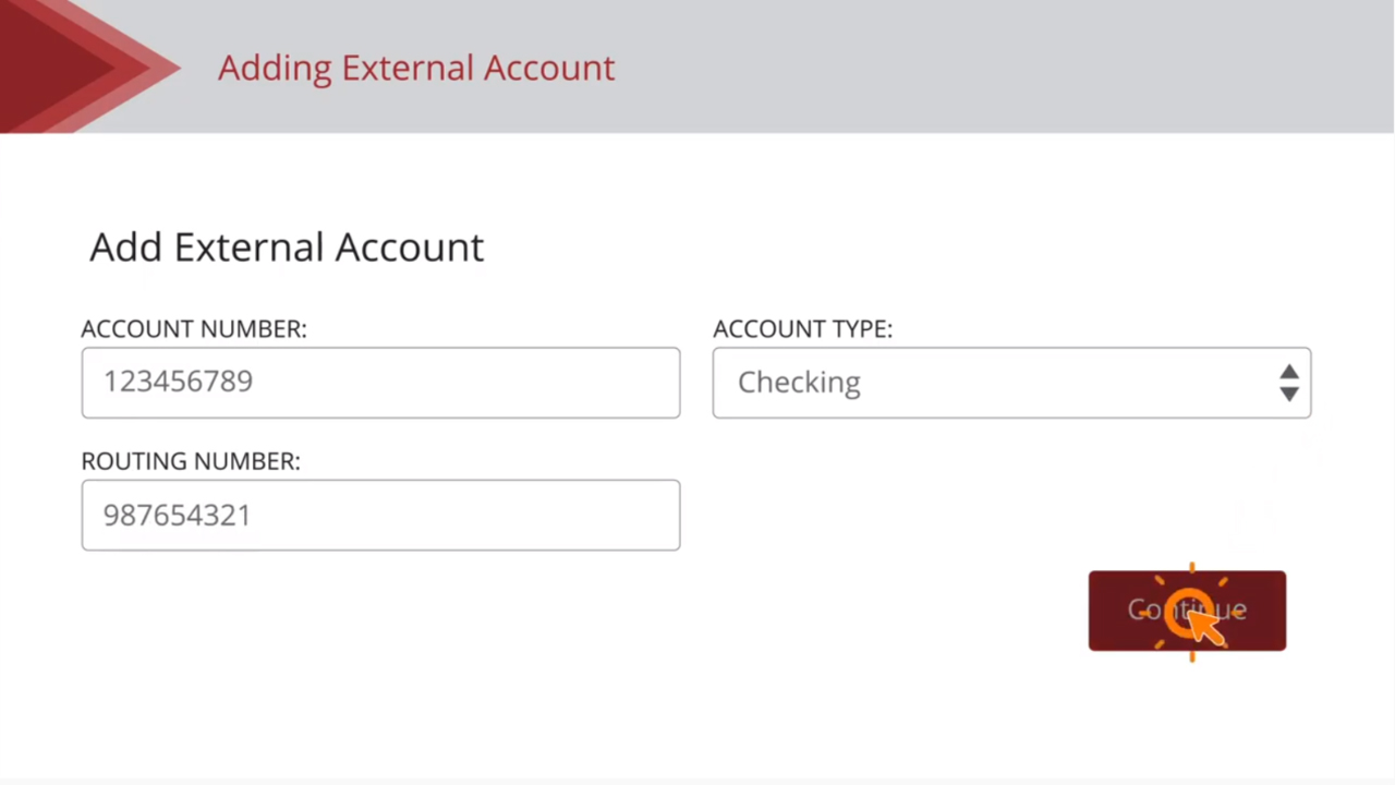 Add and Verify External Accounts