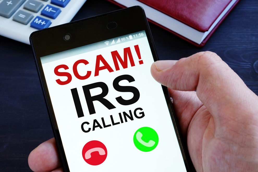 IRS Scam Phone Call on Cell Phone
