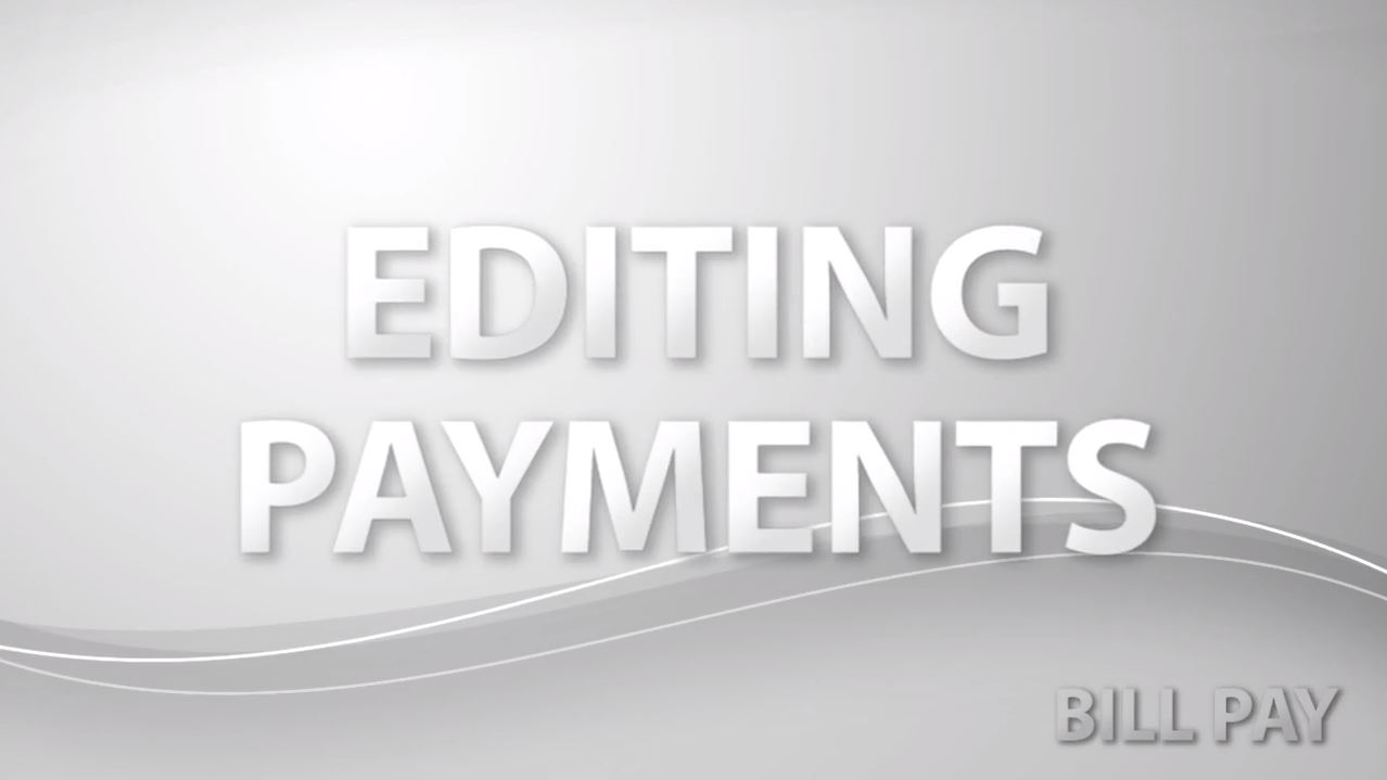 Editing Payments