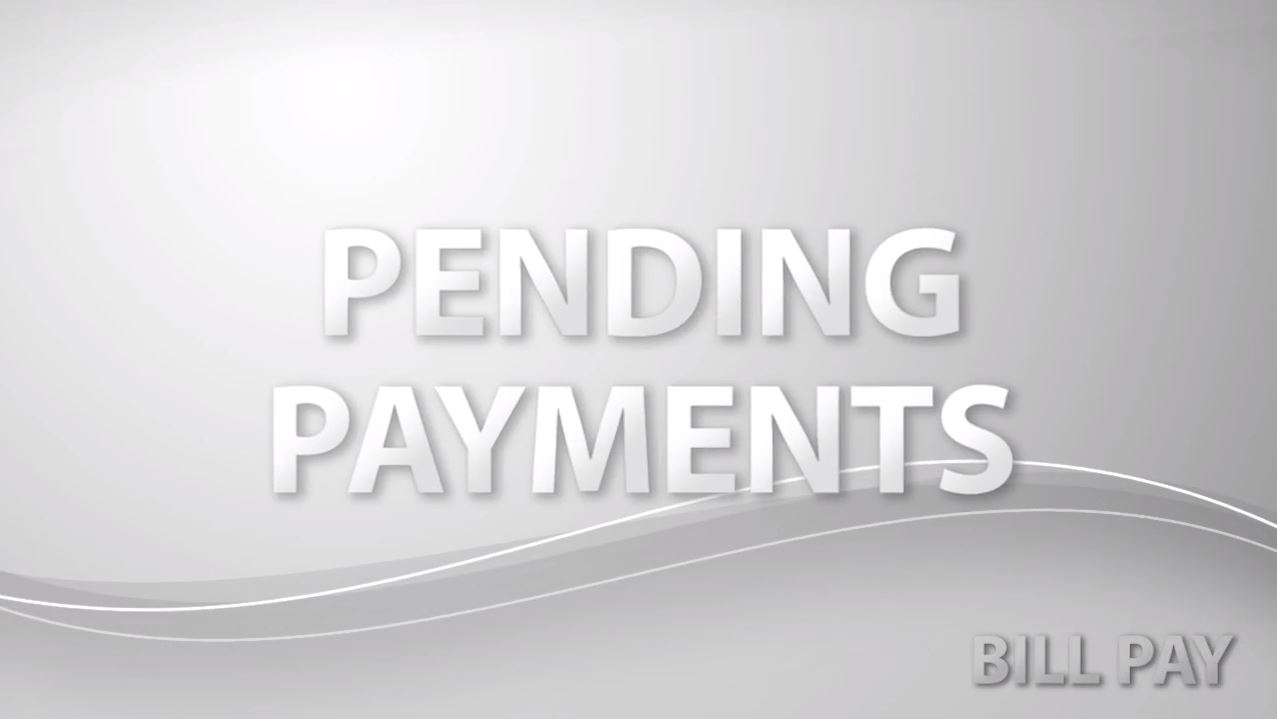 Pending Payments