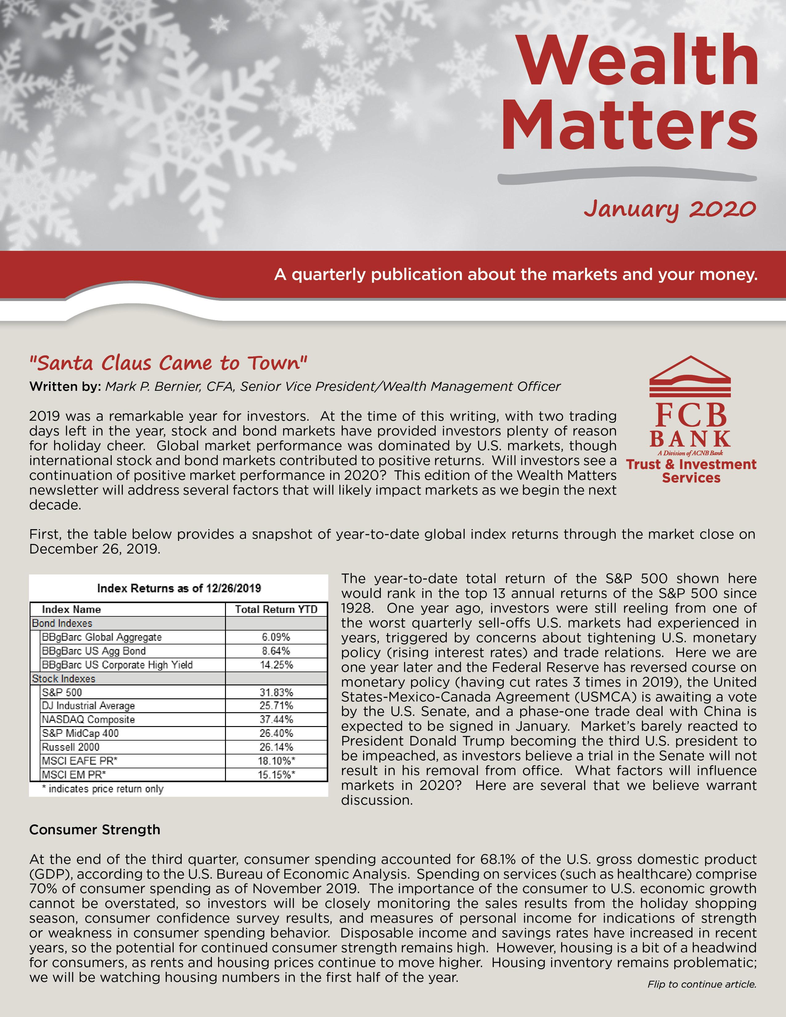 Wealth Newsletter